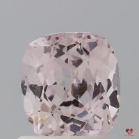 1.58cts Rectangle Cushion Light Blush Champagne Sapphire