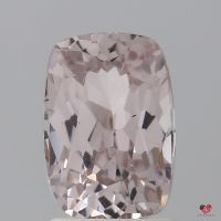 2.11cts Rectangle Cushion Medium Peach Blush Champagne Sapphire