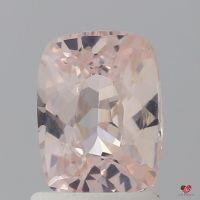 1.51cts Rectangle Cushion Light Blush Peach Champagne Sapphire