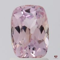 2.00cts Rectangle Cushion Medium Blush Champagne Peach Sapphire