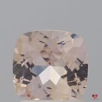 1.35cts Square Cushion Medium Peach Blush Champagne Sapphire