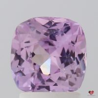 2.18cts Square Cushion Rich Medium Rustic Rose Lavender Blush Sapphire