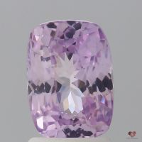 2.41cts Rectangle Cushion Medium Blush Champagne Lavender Sapphire