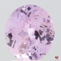 2.76cts Oval Medium Blush Champagne Lavender Sapphire