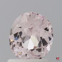 1.44cts Oval Light Peach Blush Champagne Sapphire