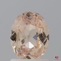 1.36cts Oval Light Peach Blush Champagne Sapphire
